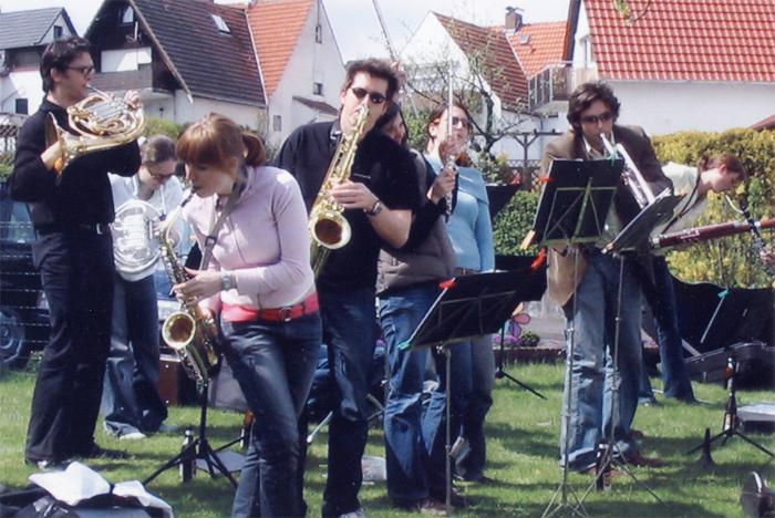 Zentralkapelle Berlin spielt Gartenkonzert in Wellerode 2005