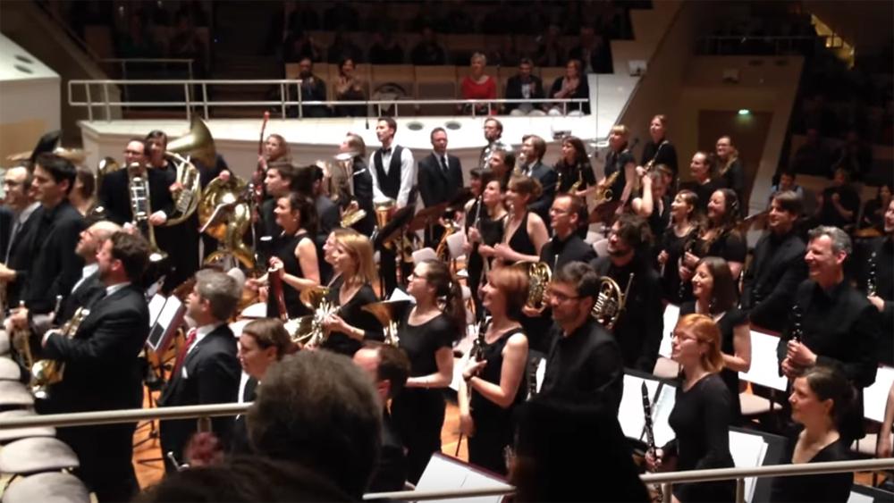 Zentralkapelle Berlin spielt Fränkisch Schottisch in der Berliner Philharmonie