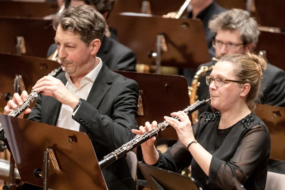 Zwei Oboen beim Konzert der Zentralkapelle Berlin, Blasorchester